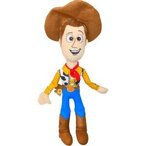 Disney Pixar Sheriff Woody Cowboy Soft Plush Toy Story 4 27cm Seated Sewn Eyes