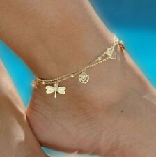 Women Anklet Gold Bead Chain Ankle Bracelet Barefoot Sandal Beach Foot Jewellery