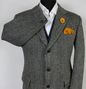 Harris Tweed Blazer Jacket Grey 40S SUPERB QUALITY X371