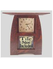 Arts & Crafts Clock Oak Finish for 4x4 Motawi Tile or other (ACT-44)