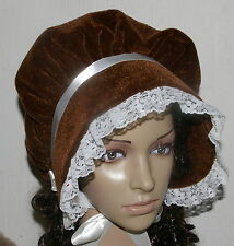 Victorian ladies bonnet costume fancy dress Dickensian Christmas carol singer br