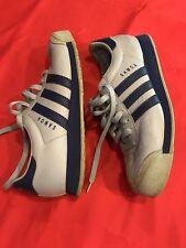 Ladies Adidas Samoa Tennis Shoes Size 9 Light Blue Dark Blue (couple Scuffs)
