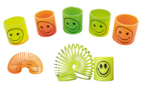 """5 Small Slinky Spring Coil Magical Toy Colorful Smile Children Kid Party Toy 2"""""""
