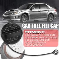 Black Gas Fuel Fill Cap Tether For Subaru Forester Impreza STI WRX 2008~2011