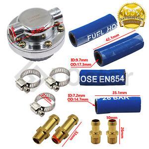 1-5 PSI Universal Adjustable Fuel Pressure Regulator Kit For Carburetor Engine
