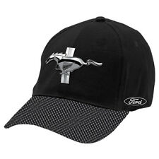 Ford Mustang Baseball Hat Cap metal badge front Embroidered logo on side Gift
