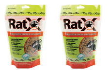 2 bags RatX Rodent Bait For Rats and Mice Granule 8 oz.