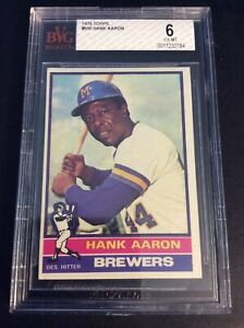 1976 Topps #550 Hank Aaron BGS 6 Milwaukee Brewers Original Rare
