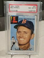 1954 TOPPS MEL PARNELL #40 PSA 8 NM-MT BOSTON RED SOX HTF GRADE
