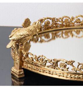 42cm Mirror brass fruit tray bowl
