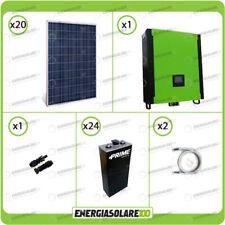 Kit solare fotovoltaico 5.6KW Inverter 5kW 48V regolatore MPPT 10Kw 900Vdc Batte