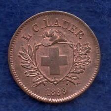 More details for toy money, switzerland, 1888 1 rappen by lauer, rare (ref. c7763)