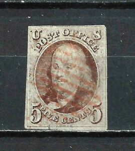 #1 US 5 CENT  RED BROWN FRANKLIN USED-N/G-FINE-VF