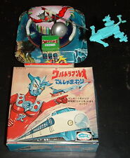 ORIGNAL ULTRAMAN LEO MAC TIN WIND UP by BULLMARK TSUBURAYA JAPAN ROBOT NEWnBOX