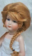 "GLOBAL Doll Wig MOHAIR ""DESIRE"" 9-10 GOLDEN BLONDE Back BRAID, BANGS & Tendrils"