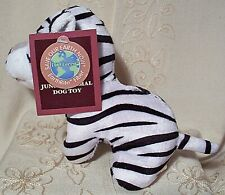 "Multipet BIG CAT JUNGLE ANIMAL Exercise Fetch Plush Squeaky Dog Toy 5"" Dan Dee"