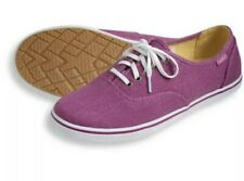New LL Bean Women's Canvas Sneakers Color Dark Orchid / White Size  US 6 M