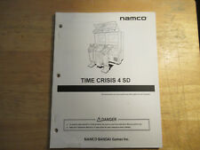 TIME CRISIS 4 NAMCO    ARCADE GAME  owners manual