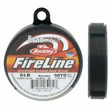 FireLine Beading Thread Size B 4lb .005 Smoke Gray 43709 15yd Mini Sp  Beadsmith