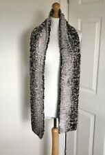Faux Fur Stole Scarf Grey Brown Pink Wrap Party Wedding