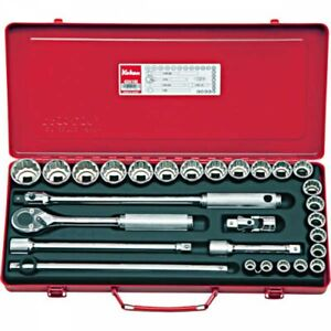 Koken 4241M 1/2 Inch 12.7mm Socket Wrench Set of 28 Pieces Fast Ship Japan EMS