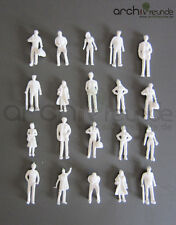100 x Modello Figure, bianco incolore, per modellismo 1:75, ferrovia Scala 00