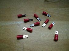 100 Flachstecker rot, Steckmaß 4,8 mm, Kabelschuhe, Quetschverbinder