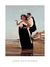 MISSING MAN ART PRINT BY JACK VETTRIANO black dress ocean beach coastal poster