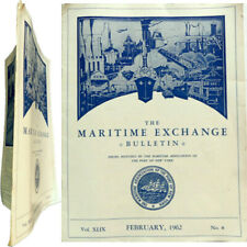 The maritime exchange bulletin n°8 1969 port New-York paquebot France Norway