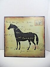 Horse Rustic Accents Metal Tin Hanging Wall Sign HOME DOCOR ART POSTER TAVER