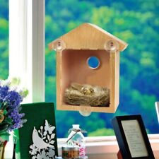 1 X Rustic Wooden Nesting Nest Box Bird House Medium Birds Blue Tit Wren Boxes