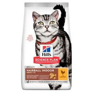 Hill's Science Plan Adult Hairball & Indoor Chicken Dry Food For Cats *3KG PACK*