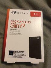 Seagate Backup Plus Slim 1TB External Hard Drive for Windows & Mac Display Model