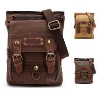 Men's Canvas Mailbag Sling Bag Cross Body Hiking Messenger Shoulder Bag Small