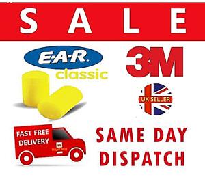 40 x 3M EAR Classic Foam Ear Plugs Sleep Aid Factory Sealed 100% Hygienic