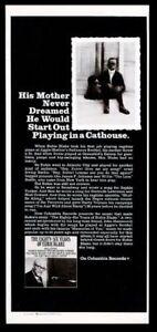 1970 Eubie Blake photo Columbia Records vintage print ad