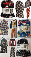 Disney Boy's Character 3-Piece Sleepwear Plush Robe & 2-Piece Fleece Pajama Set