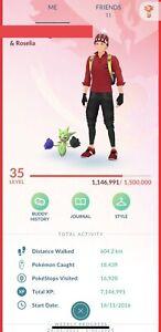 Pokémon go level 35 full access acc