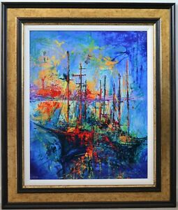 Yuval Wolfson – Harbor – 25 in x 20 in - Framed