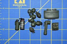 1:6 Military US Smoke Grenades Flashlight Pouch Claymore (Lot of 13) C-169