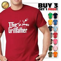 The Grillfather Parody T-Shirt Funny God Father Father's Day gift  Shirt S-3XL