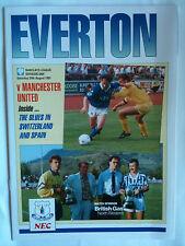 MINT 1991/92 Everton v Manchester United 1st Division