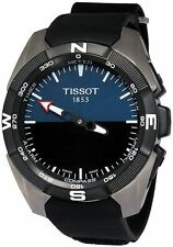 Tissot T-Touch Expert Solar Black Dial Leather Strap Men's Watch T0914204604100