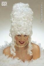 Ladies White Dutchess Wig Tall Beehive Pantomime Dame Baroness Fancy Dress