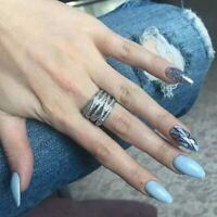 Ring Statemant breit Silber Design S925 Damen NEU Blogger Strass Zirkonia