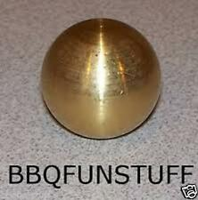 """Mhp Gas Light Replacement Solid Brass Finial 1"""" Ball Lbf1 New"""