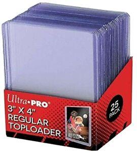 Ultra Pro Regular Flexi Top Loaders Hard Card Sleeves 25 pack Toploaders