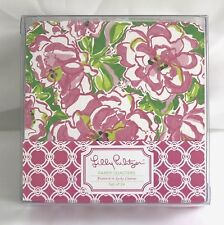 Lilly Pulitzer Paper Coasters Featured in Lucky Charms Pink Floral Set of 24 NEW