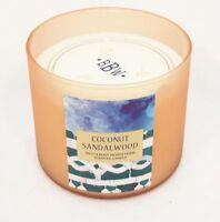 1 Bath & Body Works COCONUT SANDALWOOD 3-Wick Scented Wax Candle 14.5 oz