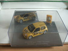 Universal Hobbies Renault Clio Trophy Presentation in Yellow on 1:43 In Box